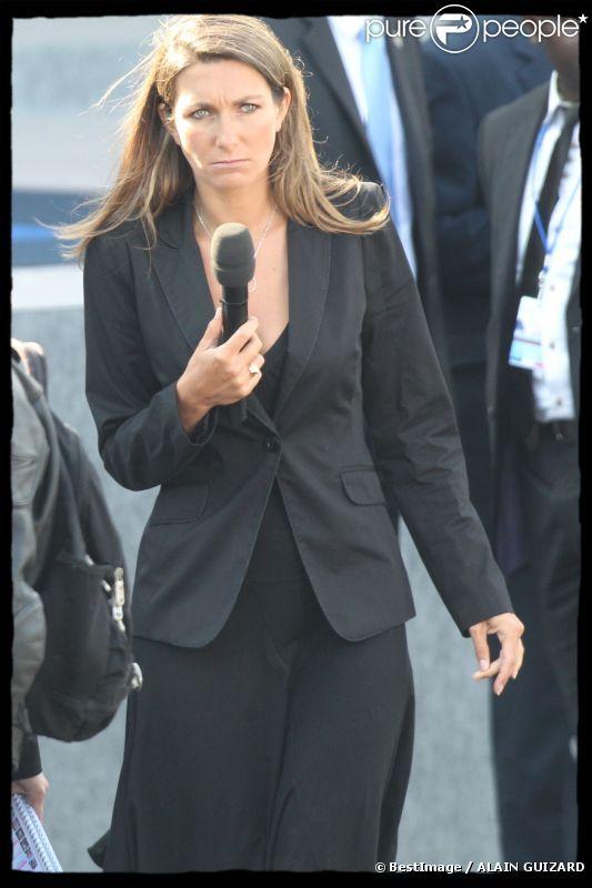 Anne-Claire Coudray le 14 juillet 2011 à Paris
