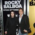 Sage Stallone, fils de Sylvester Stallone, en décembre 2006 à Los Angeles pour l'avant première de Rocky Balboa