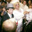 Coluche et Thierry Le Luron lors de leur faux mariage