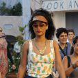 La sexy Rihanna fait du shopping dans les boutiques de luxe de Porto Cervo. Le 17 juillet 2012.