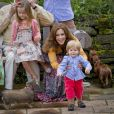 Réunion de la famille royale de Danemark à Grasten le 20 juillet 2012 pour la traditionnelle séance photo des vacances d'été, marquée par les premiers pas en public du prince Vincent, fils du prince Frederik et de la princesse Mary, âgé de 18 mois.