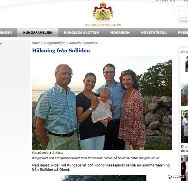 La famille royale de Suède à la villa Solliden le 14 juillet 2012 pour le 35e anniversaire de la princesse Victoria.