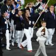 Laura Flessel lors de la cérémonie d'ouverture des Jeux olympiques de Londres le 27 juillet 2012