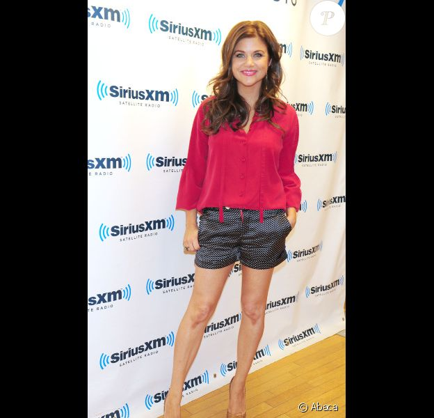 Tiffani Thiessen en pleine promotion de la série White Collar à New York le 30 juillet 2012