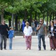 Bruce Springsteen en famille à Paris le 6 juillet 2012, après ses concerts à Bercy.