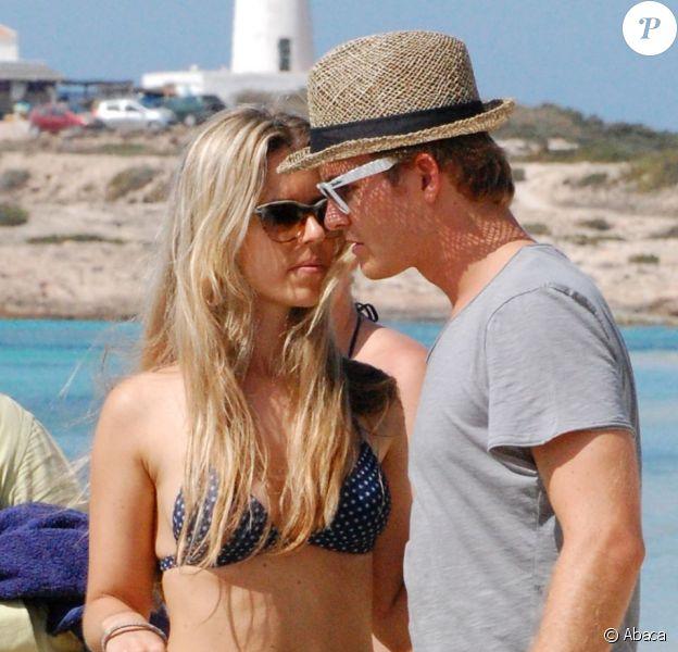 Nico Rosberg sur l'île de Formentera avec sa compagne Vivian Sibold le 2 août 2012
