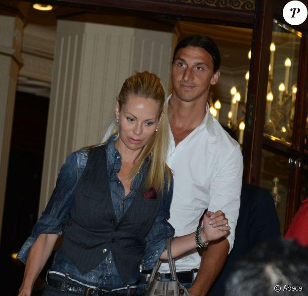 Zlatan rencontre avec sa femme
