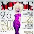 Lady Gaga, photographiée par Mert et Marcus et habillée d'une robe Marc Jacobs, pose pour le numéro de septembre 2012 de Vogue.