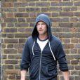 Ronan Keating triste sur le tournage de son prochain clip à Londres le 13 juillet 2012