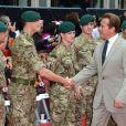 Arnold Schwarzenegger lors de l'avant-première à Londres du film Expendables 2 le 13 août 2012