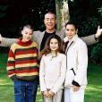 Jean-Claude Van Damme et sa femme Gladys avec leurs enfants en 2003 Khristopher et Bianca