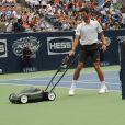 Novak Djokovic lors du 17e Arthur Ashe Kids' Day au USTA Billie Jean King National Tennis Center in Flushing Meadows à New York le 26 août 2012