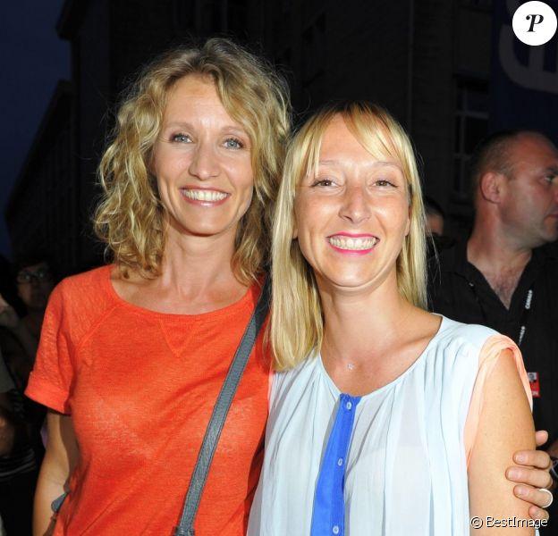 Alexandra Lamy et sa soeur Audrey Lamy à l'avant-première de Pauline détective au Festival d'Angoulême, le 27 août 2012.