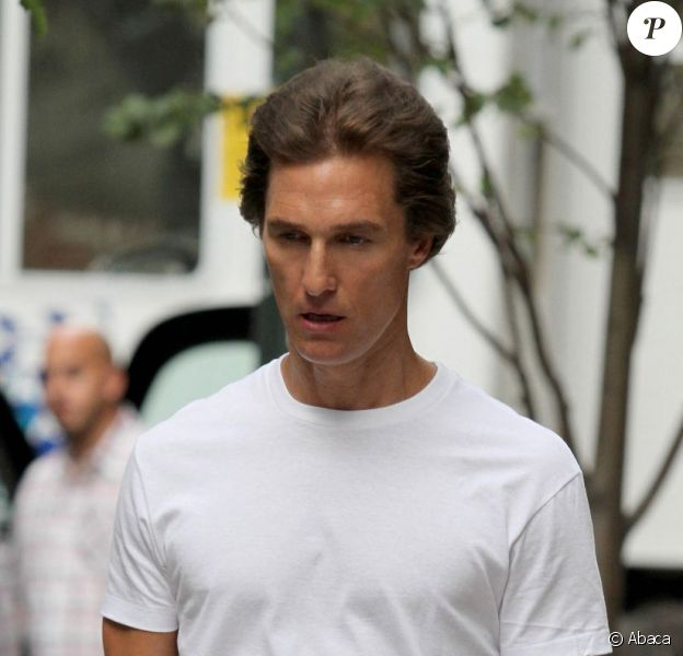 Matthew McConaughey sur le tournage de The Wolf of Wall Street le 27 août 2012