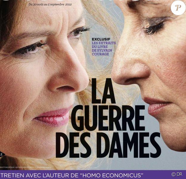 Le Nouvel Observateur, en kiosques le 30 août 2012, publie des extraits du livre de Sylvain Courage, L'Ex, sur le trio formé par Ségolène Royal, Valérie Trierweiler et François Hollande.