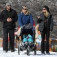 Heidi Klum et son bodyguard en décembre 2011 à Aspen