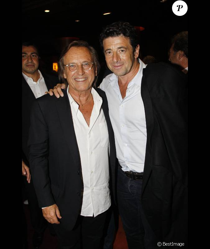 alexandre arcady avec son ami et acteur r current de ses films patrick bruel lors du cocktail. Black Bedroom Furniture Sets. Home Design Ideas