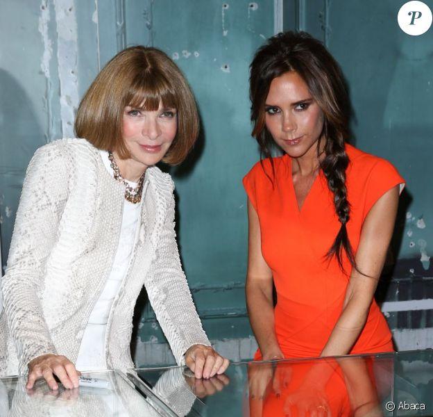 Victoria Beckham et Anna Wintour fêtent à la Fashion Night's Out, chez Bergdorf Goodman, à New York, le 6 septembre 2012.