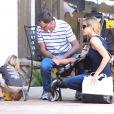 Denise Richards et Brooke Mueller font du shopping avec leurs enfants respectifs, dont le père est Charlie Sheen, à Los Angeles le 9 septembre 2012