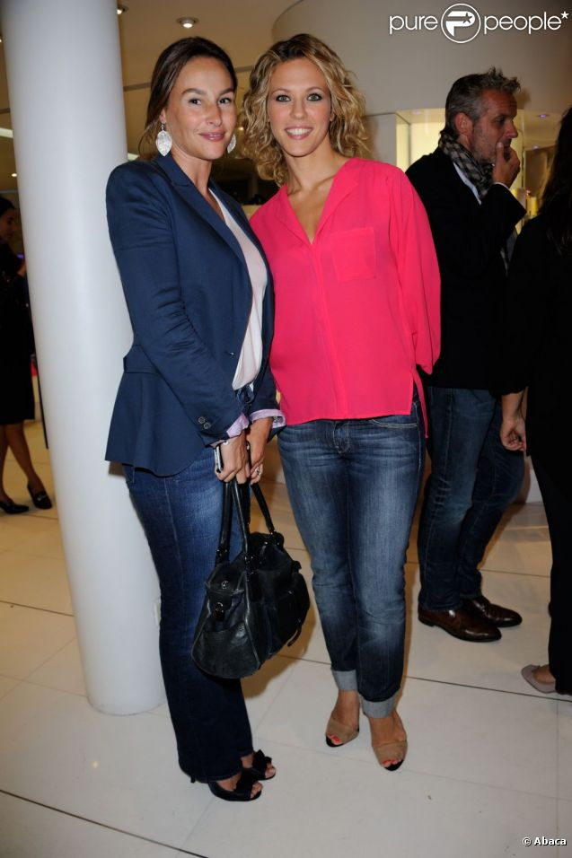 Vanessa Demouy et Lorie aux Vendanges de l'Avenue Montaigne le 11 septembre 2012 à Paris