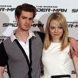 Emma Stone et Andrew Garfield à Rome pour la promotion de  The Amazing Spider-Man , le 23 juin 2012.