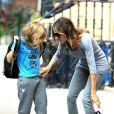 Sarah Jessica Parker et son fils James sur le chemin de l'école dans les rues de New York le 14 septembre 2012