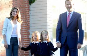 Letizia et Felipe d'Espagne : Fiers pour la rentrée de leurs jolies princesses