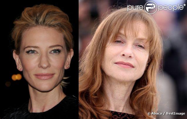 Cate Blanchett en mai 2012 à New York / Isabelle Huppert en mai 2012 à Cannes.