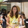 Kate Middleton lors de la visite d'un village culturel à Honiara dans les Iles Salomon le 17 septembre 2012