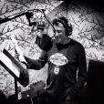 Johnny Hallyday en studio à Los Angeles, septembre 2012.