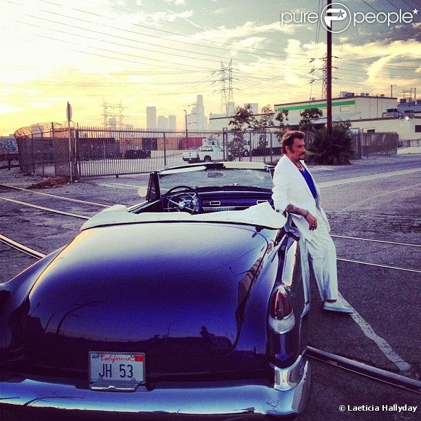Johnny Hallyday immortalisé par Laeticia à Los Angeles, septembre 2012.