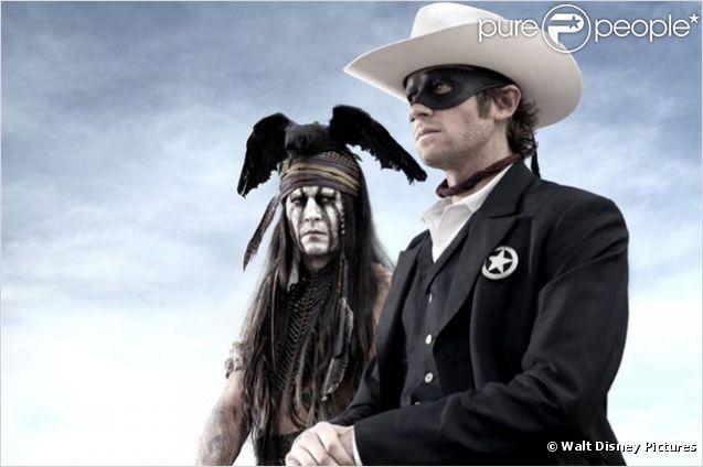 Johnny Depp et Armie Hammer dans  The Lone Ranger  attendu le 7 août 2013 sur les écrans.