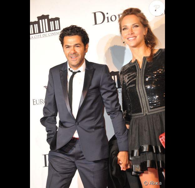 Jamel Debbouze et Melissa Theuriau : beaux, élégants, amoureux et complices lors de la soirée d'inauguration de la Cité du Cinéma à Saint-Denis le 21 septembre 2012