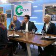Gwen Stefani et Tony Kanal sur le plateau de  C à Vous  sur France 5, le 24 septembre 2012.