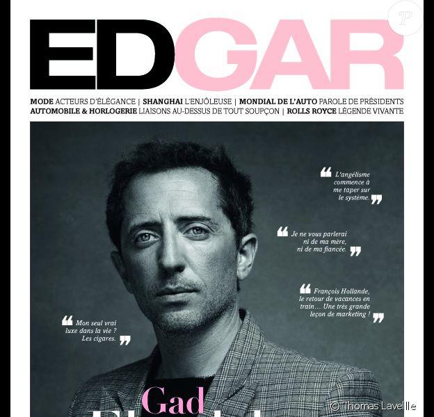 Couverture du magazine EDGAR du mois d'octobre 2012, avec Gad Elmaleh