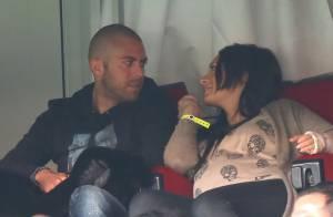 Emilie Nef Naf très enceinte et amoureuse avec Jérémy Ménez devant PSG-FCSM