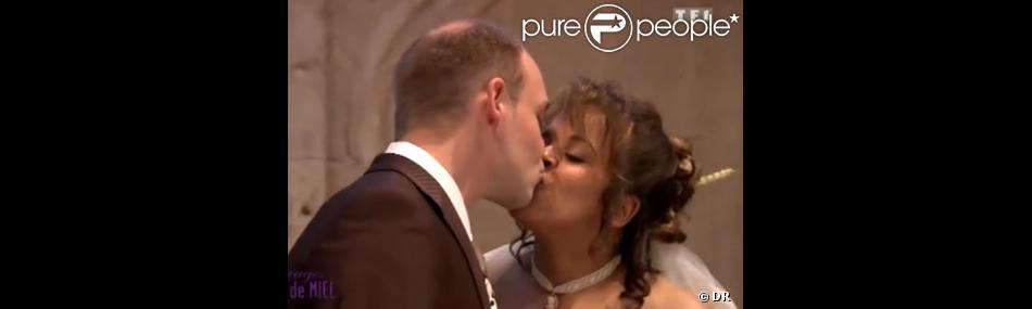 Nadia et Frédéric dans  Quatre mariages pour une lune de miel  (TF1).