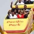 Mariah Carey et Nick Cannon se rendent avec leurs enfants au parc Kuboo à Santa Monica, le samedi 6 octobre 2012.