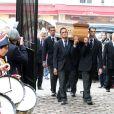 Les funérailles du réalisateur Claude Pinoteau à Montmartre à Paris le 11 octobre 2012