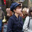 Sophie Marceau lors des funérailles du réalisateur Claude Pinoteau à Montmartre à Paris le 11 octobre 2012
