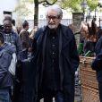 Edouard Molinaro lors des funérailles du réalisateur Claude Pinoteau à Montmartre à Paris le 11 octobre 2012