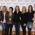 Ayden, Emilie Mazoyer, Ruth Elkrief, Alexandra Lamy, Adrienne de Malleray, Sandra Lou et elodie Gossuin à conférence de presse pour le Pasteurdon 2012 organisée à l'Institut Pasteur à Paris, le 11 octobre 2011.