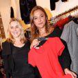 Sandrine Quétier et Sophie Favier lors de l'inauguration de la boutique  Twiggy  de Sophie Favier et Cathy à Neuilly-sur-Seine, le 11 octobre 2012