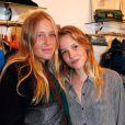 Carla-Marie Favier et une amie lors de l'inauguration de la boutique  Twiggy  de Sophie Favier et Cathy à Neuilly-sur-Seine, le 11 octobre 2012