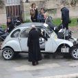 John Malkovich sur le tournage Red 2 à Paris le 11 octobre 2012