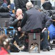 Bruce Willis et John Malkovich sur le tournage Red 2 à Paris le 11 octobre 2012
