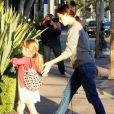 Jennifer Garner et Ben Affleck emmènent Seraphina et Violet déjeuner à Brentwood. Le 13 octobre 2012.