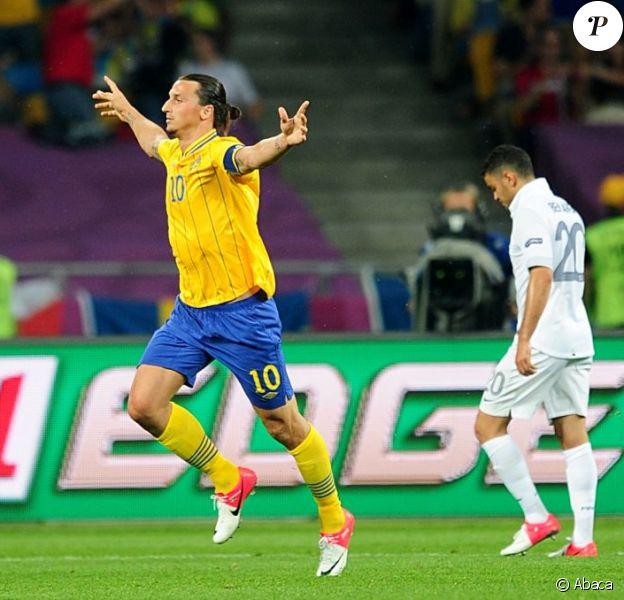 Zlatan Ibrahimovic lors de l'Euro 2012 lors du match Suède-France à Kiev le 19 juin 2012