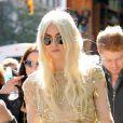 La grande Taylor Momsen sur le tournage de la série Gossip Girl à New York, le 16 octobre 2012