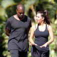 Exclusif - Kim Kardashian and Kanye West font du sport à Los Angeles, le 10 août 2012.